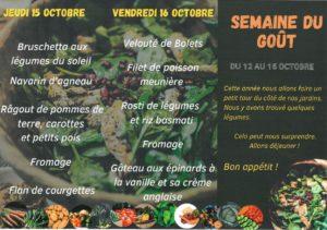 Régalons-nous à l'occasion de la semaine du goût sur le thème, les légumes.  Merci à Elior pour ces préparations